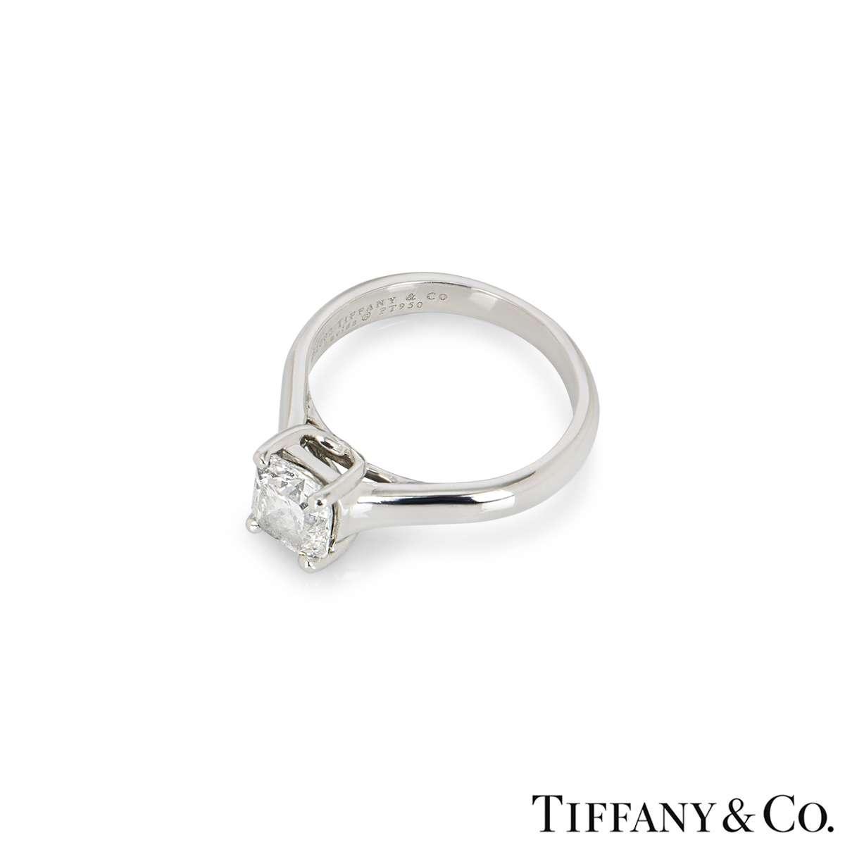 Tiffany & Co. Platinum Diamond Lucida Ring 1.13ct D/VVS2